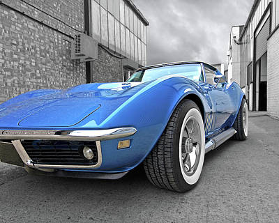 Classic Muscle Cars Photograph - Style In The Back Streets 2 by Gill Billington