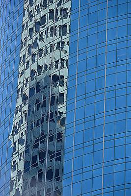 Photograph - Modern Architecture Reflecting The Old by Nadalyn Larsen