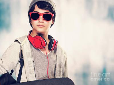 Photograph - Stylish Boy Portrait by Anna Om