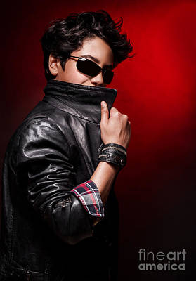 Photograph - Stylish Guy Portrait by Anna Om