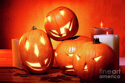 Photograph - Stylish Halloween Decorations by Anna Om