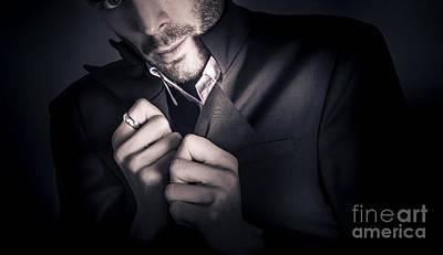 Stylish Man Wearing Mens Fashion Accessories  Art Print