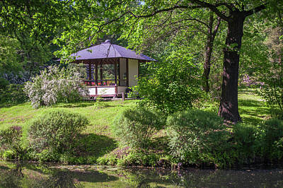 Photograph - Stylish Pavilion  In Japanese Garden by Jenny Rainbow