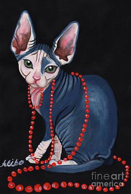 Painting - Stylish Sphynx by Akiko Okabe