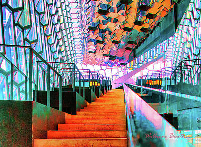 Photograph - Stylish Stairway by William Beuther