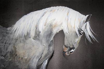Painting - Stylish Stallion by Khalid Saeed