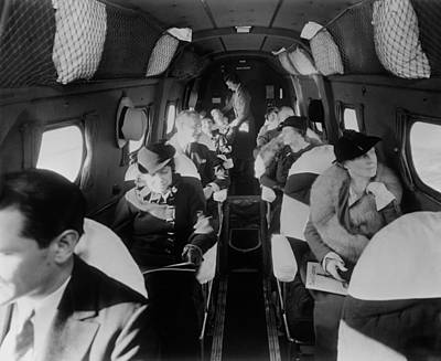 Rire Photograph - Stylishly Dressed Passengers Seated by Everett
