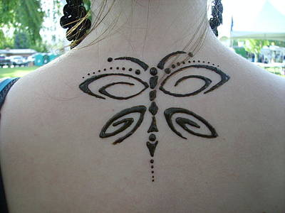 Gioffre Harrington Drawing - Stylized Butterfly by Henna Tattoos Ogden Utah
