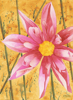 Painting - Stylized Dahlia by Ken Powers