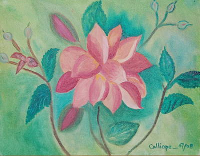 Painting - Stylized Flower by Calliope Thomas