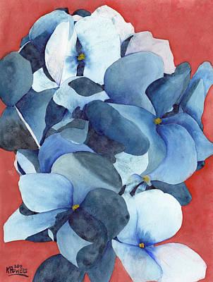 Stylized Hydrangea Art Print