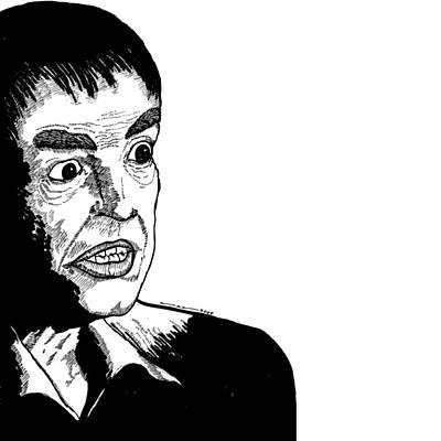 Intense Drawing - Stylized Man by Karl Addison