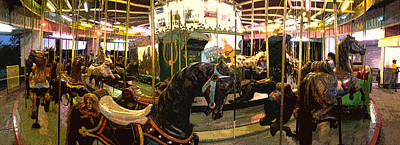 Photograph - Stylized Merry-go-round Photo by Jeff Schomay