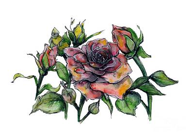 Painting - Stylized Roses by Lauren Heller