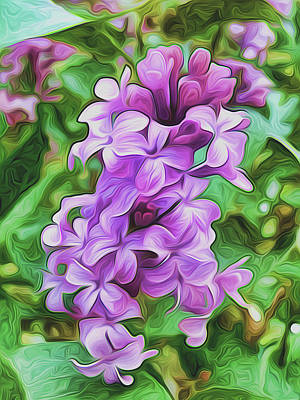 Stylized Spring Lilac By Frank Lee Hawkins Art Print