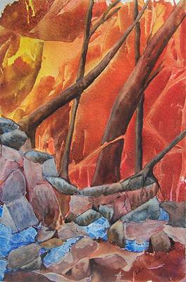 River Styx Painting - Styx And Stones by Jackie Mueller-Jones