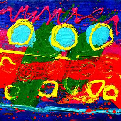 Contemporary Abstract Fruit Painting - Sub Aqua I - Triptych by John  Nolan