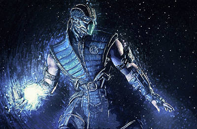Digital Art - Sub-zero - Mortal Kombat by Taylan Apukovska