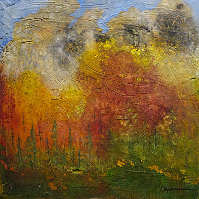 Wildfire Painting - Subalpine Firestorm by Tonja Opperman