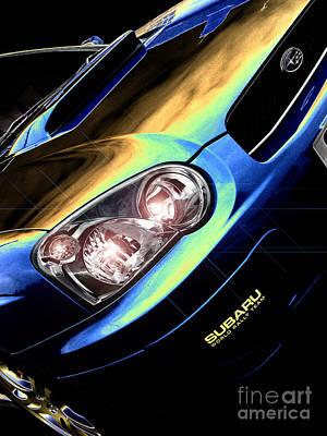 Subaru Impreza Digital Art - Subaru Impreza  by Nigel Bangert
