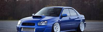 Subaru Impreza Digital Art - Subaru Impreza Wrx Sti Subaru Tuning Blue 98578 3840x1200 by Anne Pool
