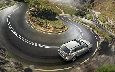 Transportation Digital Art - Subaru Outback by Super Lovely