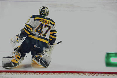 Subban Stretching Art Print by Mike Martin