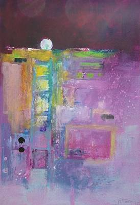 Subconscious Painting - Subconscious  Magenta by Jules Horn