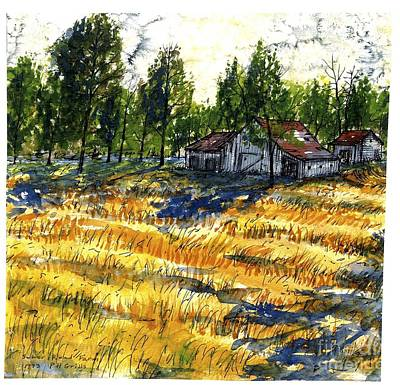 Painting - Suber Road Barns by Patrick Grills
