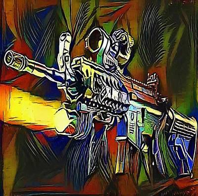 submachine gun - My WWW vikinek-art.com Art Print