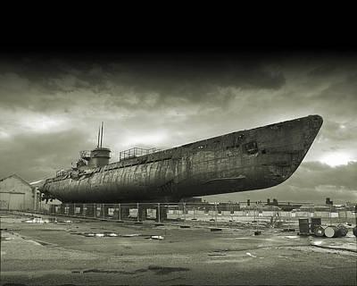 Submarine Digital Art - Submarine by Alice Kent