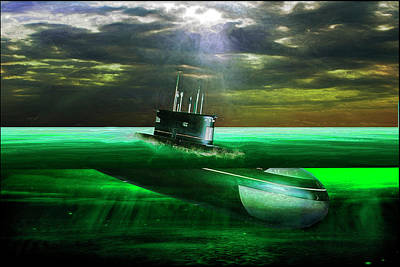 Painting - Submarine by Michael Cleere