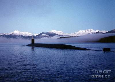 Painting - Submarine-us-navy-uss-kentucky by Celestial Images