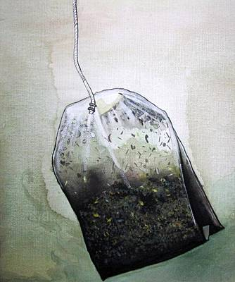 Submerged Tea Bag Art Print by Mary Ellen Frazee