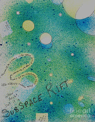 Painting - Subspace Rift by Lori Kingston