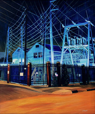 Painting - Substation by Tommy Midyette
