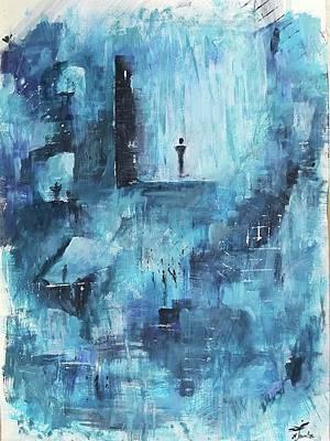 Subterranean Painting - Subterranean Pathways by Maria Tounta