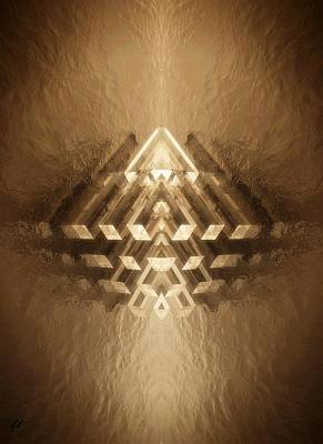 Digital Art - Subtle Geometrix by John Alexander