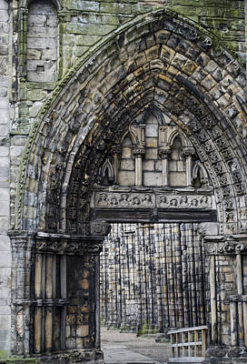 Photograph - Subtle Shades Of Stone Holyrood Edinburgh Scotland by Sally Ross