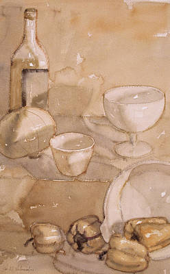 Painting - Subtle Still Life by Joe Schneider