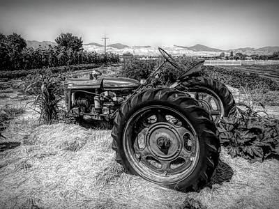 Photograph - Suburban Farmall Bw by David King