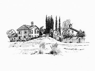 Drawing - Suburban Life by Masha Batkova