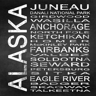 Subway Alaska State Square Art Print by Melissa Smith