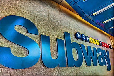 Photograph - Subway Entrance by Allen Beatty