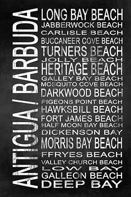 Subway Antigua Barbuda 1 Art Print