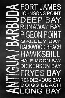 Subway Antigua Barbuda 3 Art Print