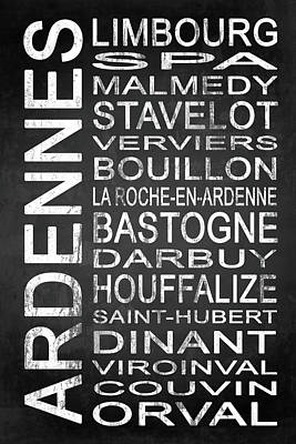 Words Digital Art - Subway Ardennes Belgium 1  by Melissa Smith