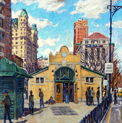 Painting - Subway At 72nd Street Nyc by Thor Wickstrom