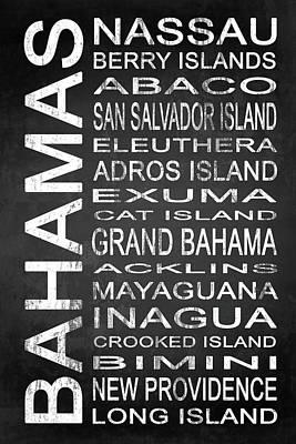 Beach Mixed Media - SUBWAY Bahamas 1 by Melissa Smith