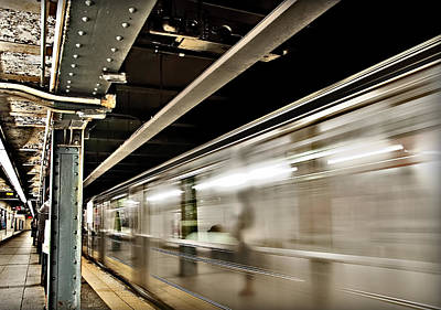 Photograph - Subway Blur by Barry C Donovan